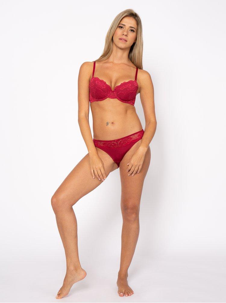 Červené krajkové kalhotky DORINA