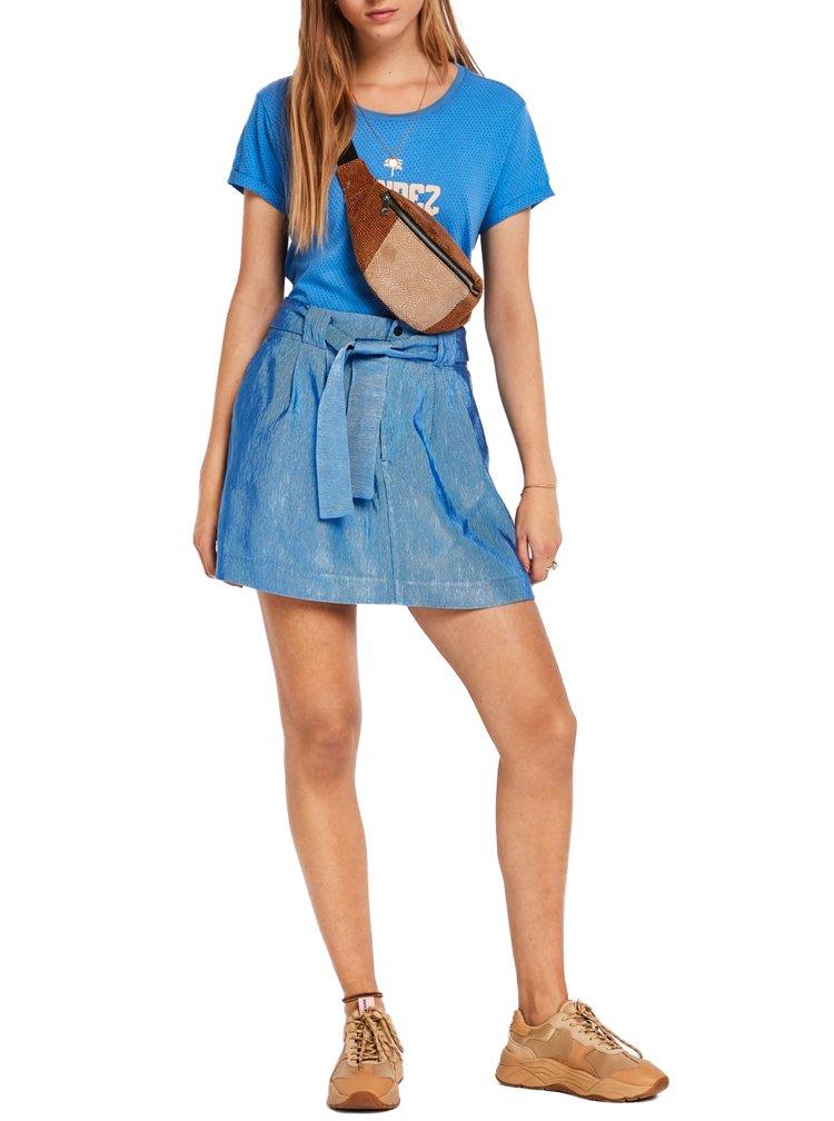 Scotch & Soda modrá sukně s páskem