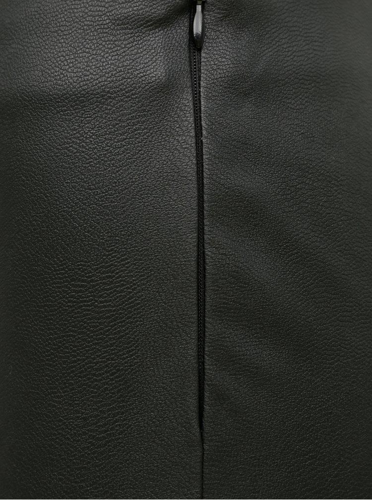 Černé koženkové legíny Jacqueline de Yong Tonka