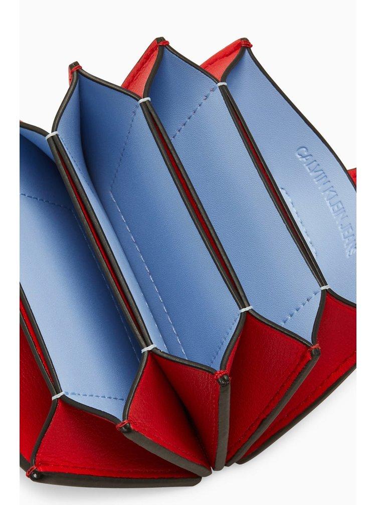Calvin Klein červený dokladovník CKJ Mono Hardware Accordian Card