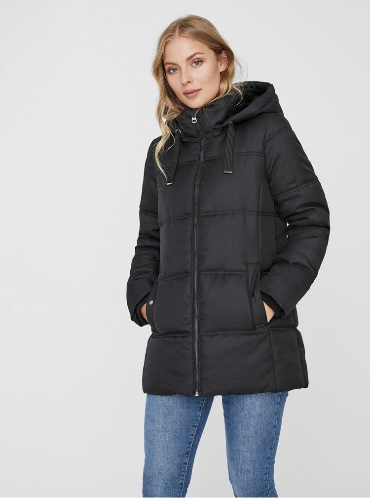 Černá zimní prošívaná bunda VERO MODA Neat