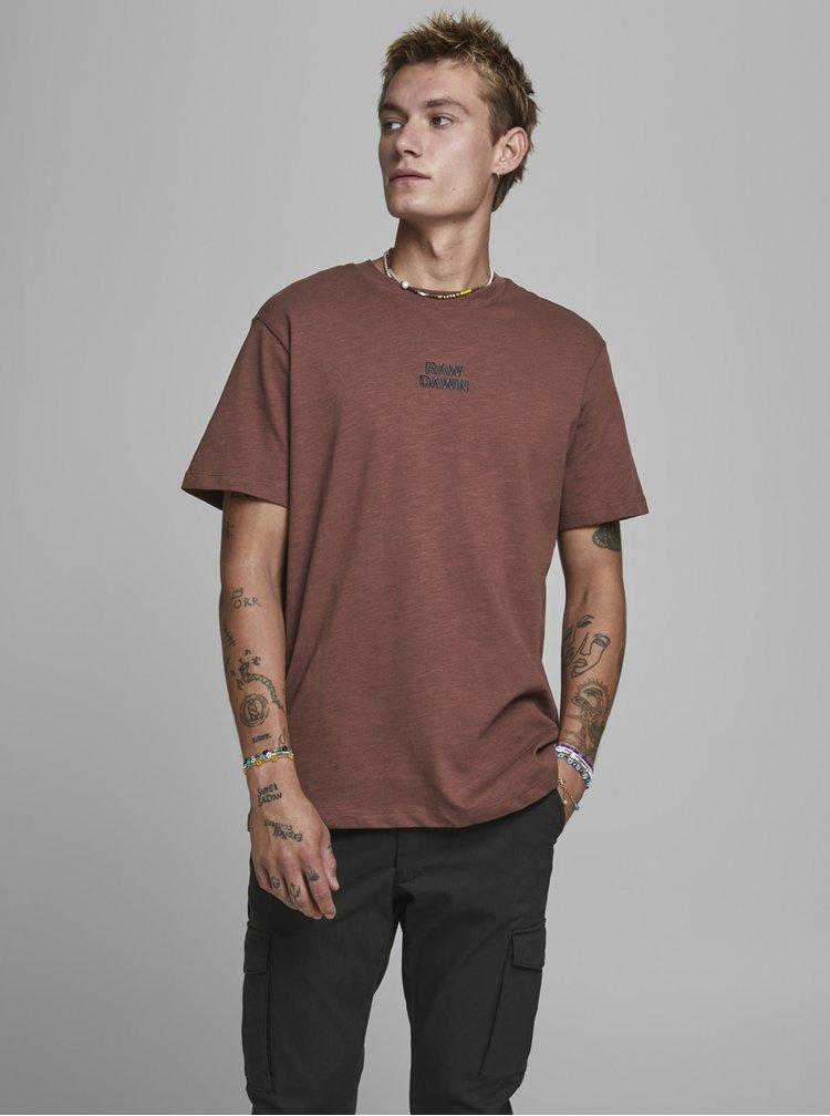 Tricouri pentru barbati Jack & Jones - maro