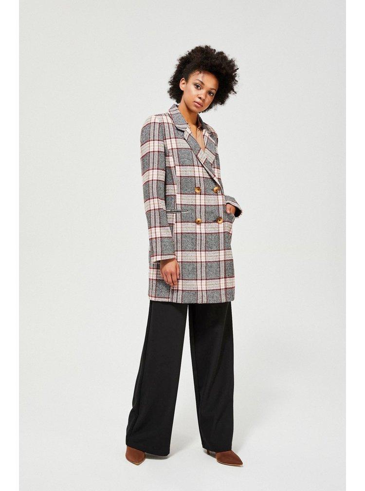 Moodo kostkovaný podzimní kabát