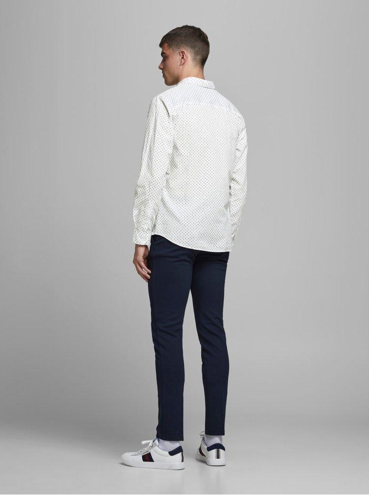 Bílá vzorovaná košile Jack & Jones Cowindsor