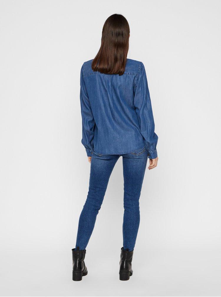 Modrá košile Pieces Bellis