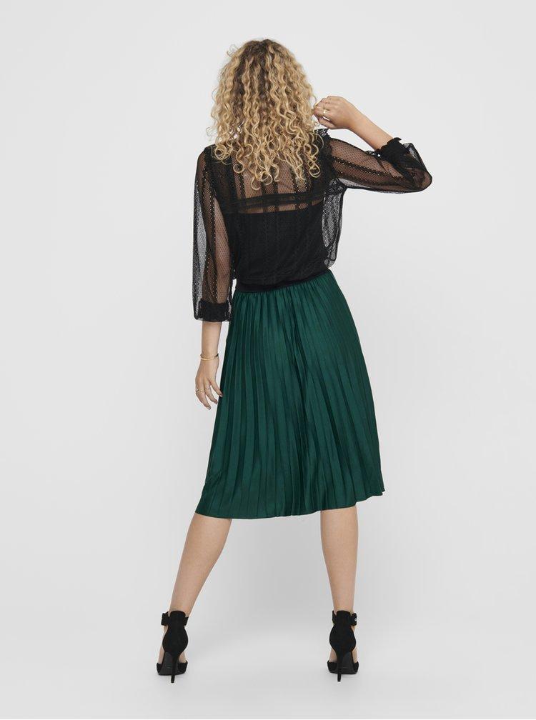 Zelená plisovaná sukně Jacqueline de Yong Gayel