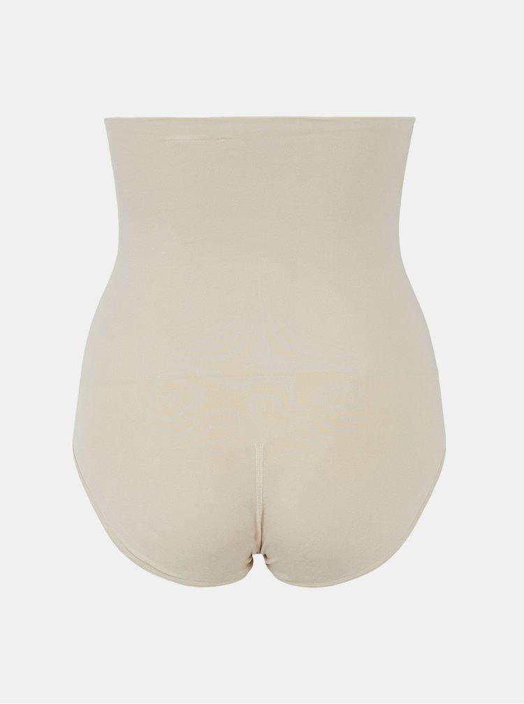Krémové stahovací kalhotky Pieces Bella