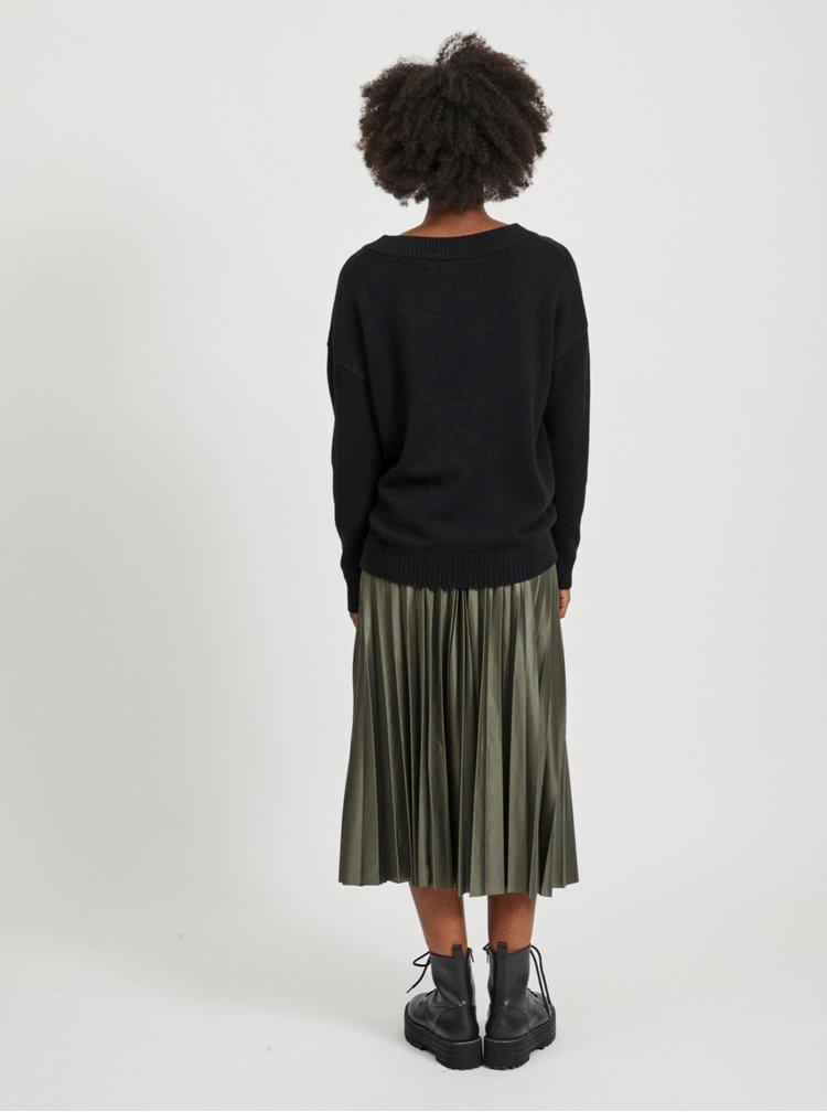 Černý volný svetr VILA Ril