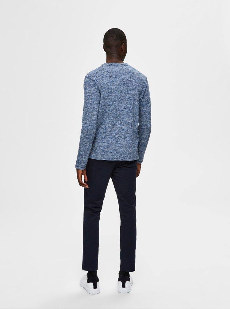 Modrý žíhany svetr Selected Homme Jay