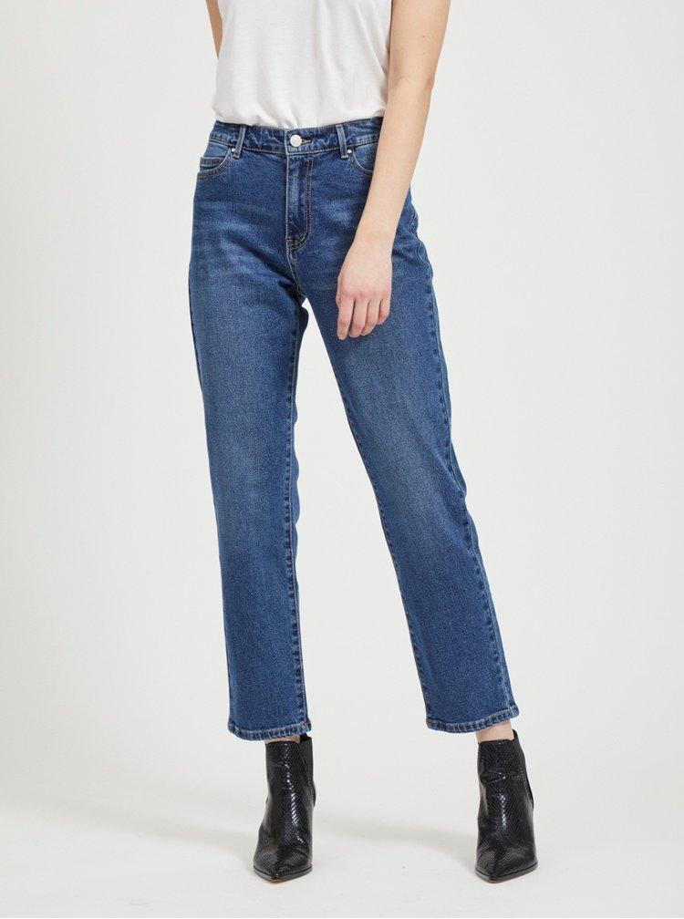 Modré straight fit džíny VILA Sommer