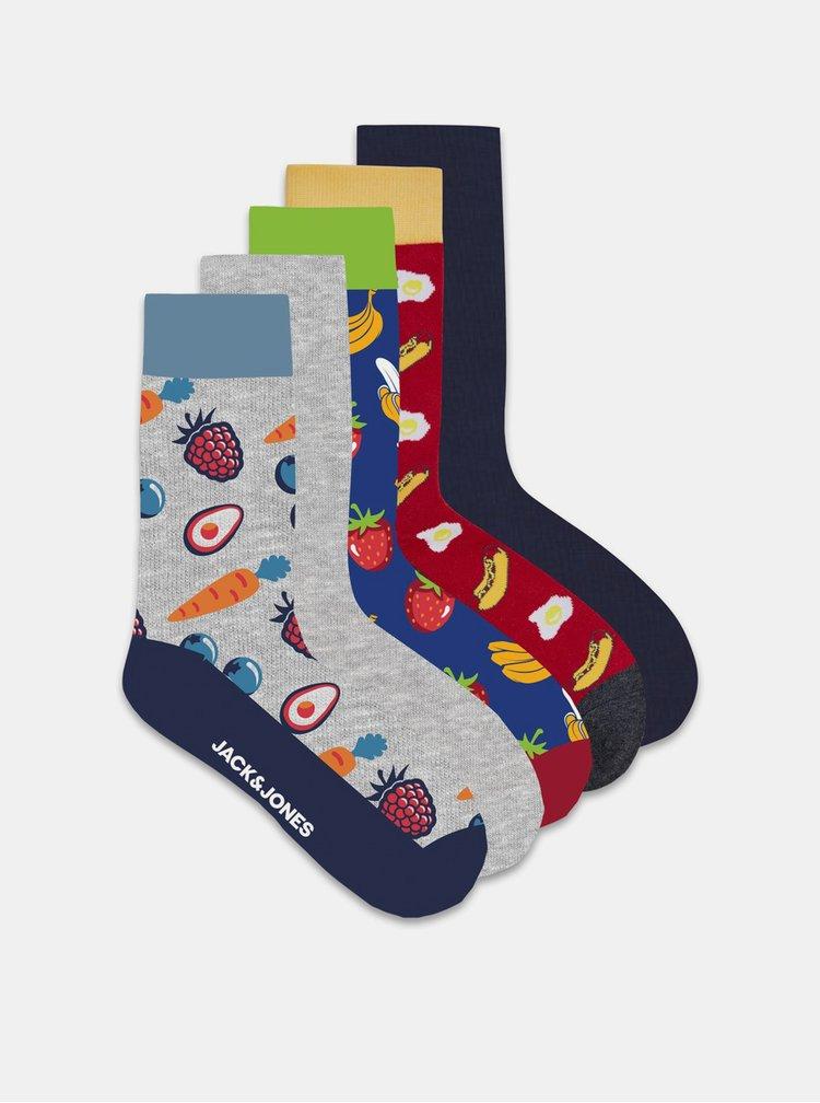 Sada pěti páru ponožek s motivem Jack & Jones Banana