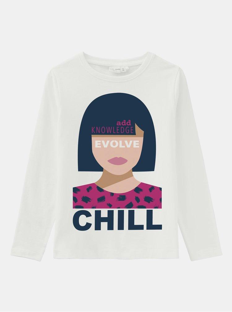 Bílé holčičí tričko name it Vix