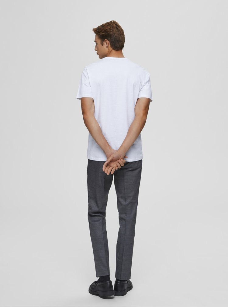 Bílé tričko Selected Homme Cody