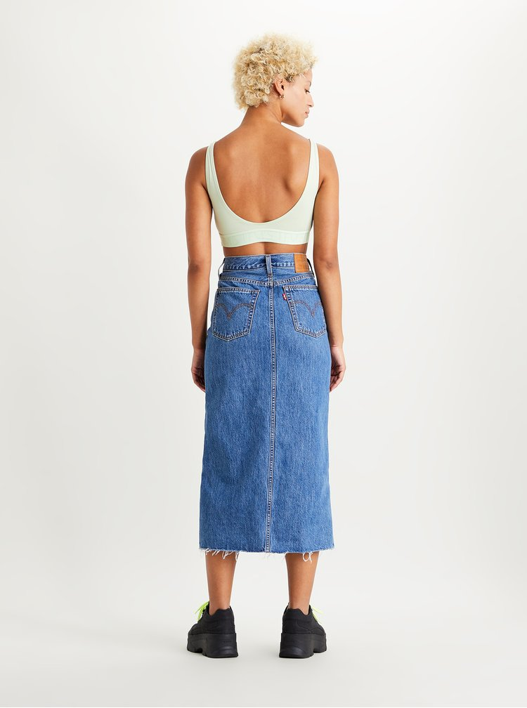 Modrá džínová midi sukně s rozparkem Levi's®
