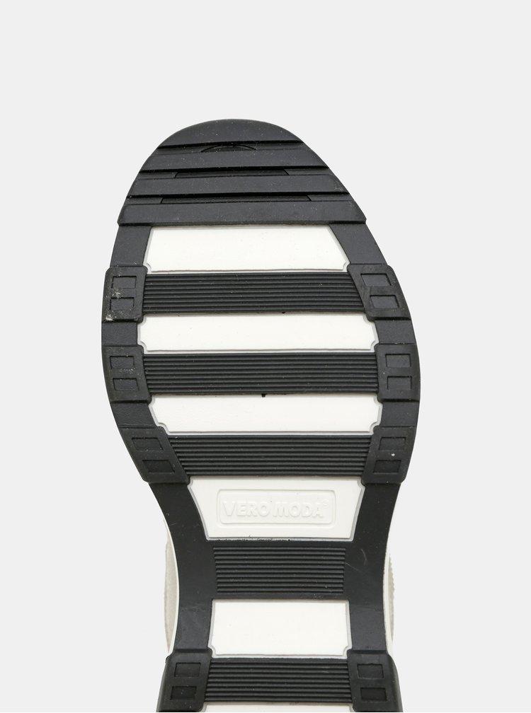 Béžové tenisky s detaily v semišové úpravě VERO MODA