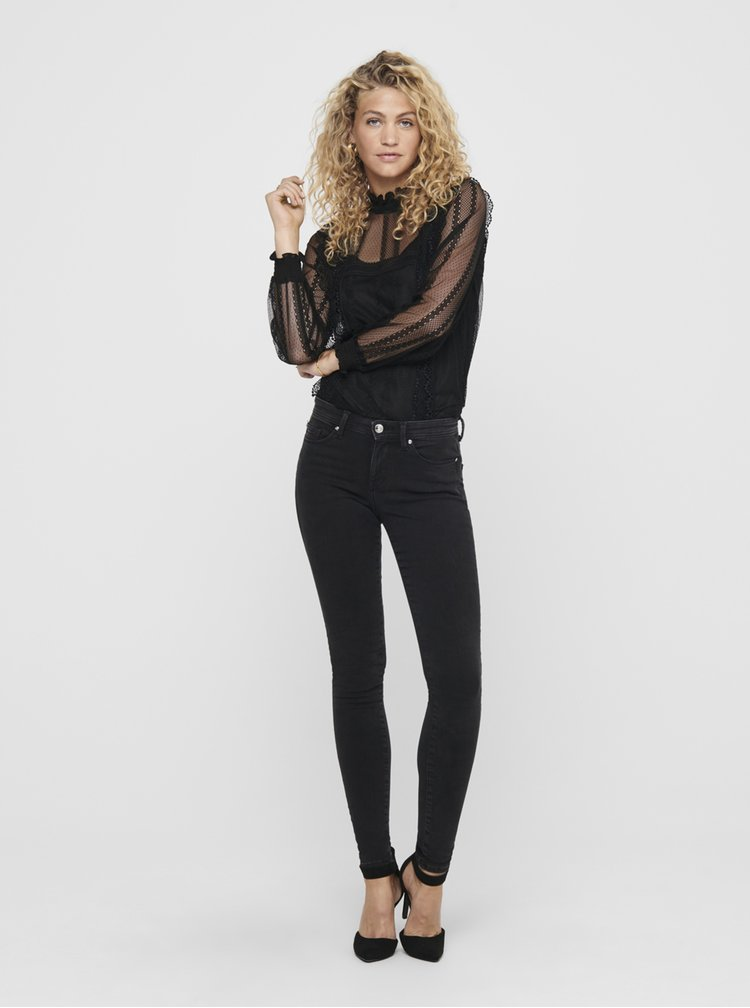 Černé skinny fit džíny ONLY Shape
