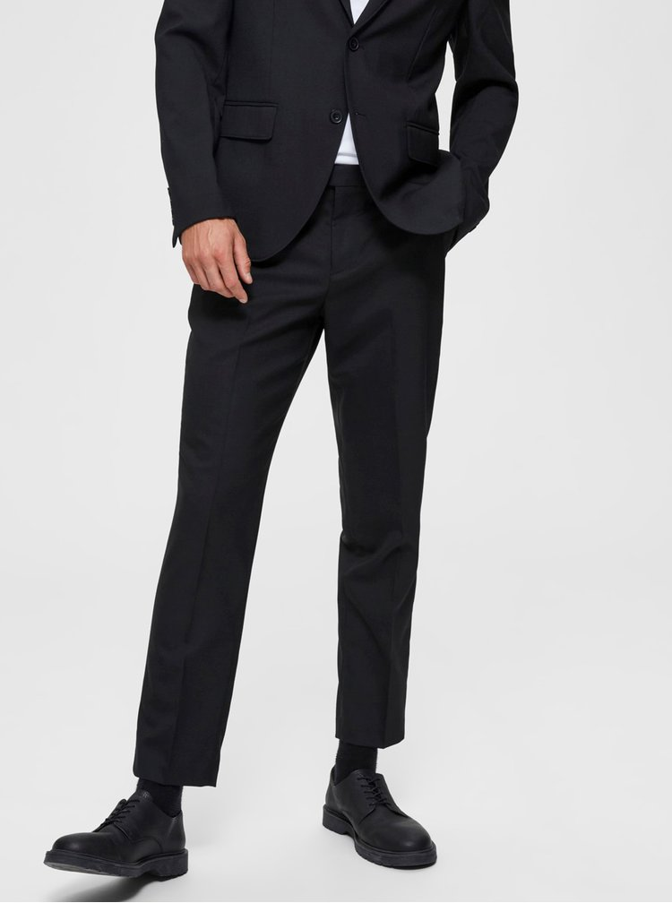 Pantaloni formali pentru barbati Selected Homme - negru