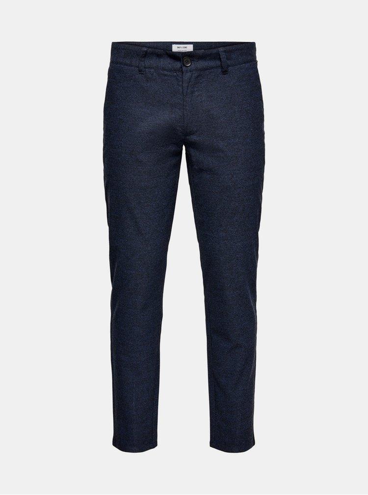 Pantaloni formali pentru barbati ONLY & SONS - albastru inchis