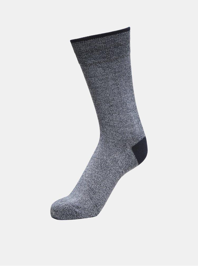 Modro-šedé žíhané ponožky Selected Homme Rykers
