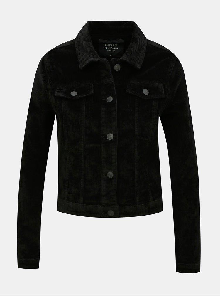 Černá manšestrová bunda ONLY Touch