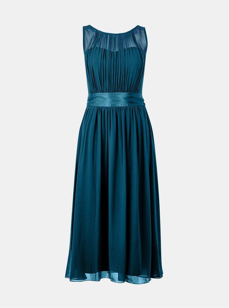 Petrolejové šaty se zavazováním Dorothy Perkins