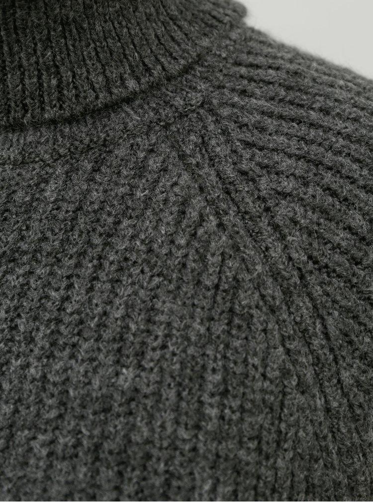 Šedý svetr s rolákem ONLY Jade