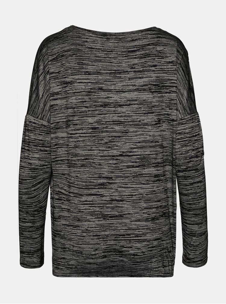 Tmavě šedé dámské žíhané tričko SAM 73