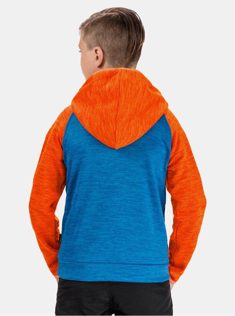Oranžovo-modrá klučičí mikina SAM 73