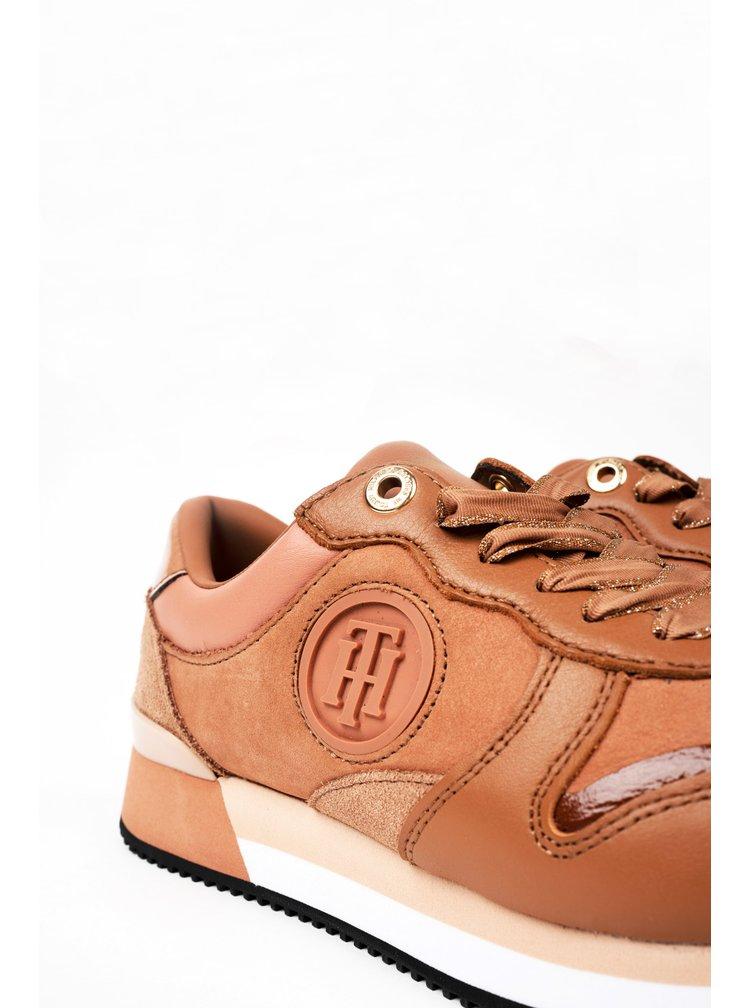 Tommy Hilfiger stylové tenisky na platformě Active Feminine City Sneaker Copper Canyon