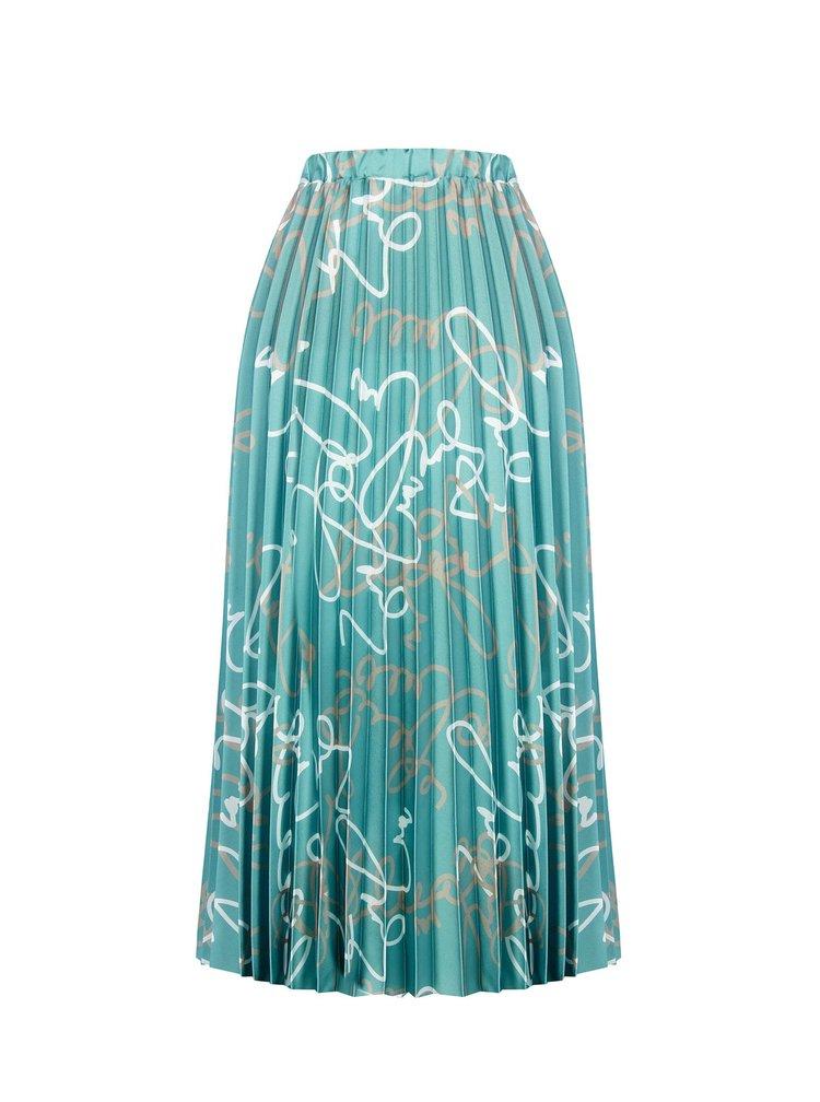 Rinascimento mentolová plisovaná sukně