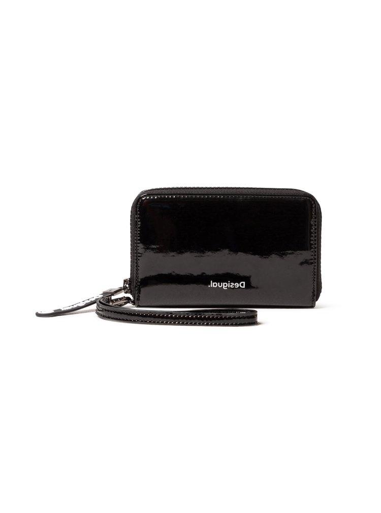 Desigual černá lesklá peněženka Mone Forever Young Mini Zip