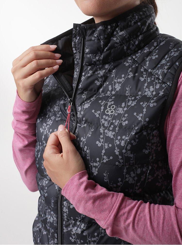 Černá dámská vzorovaná vesta LOAP