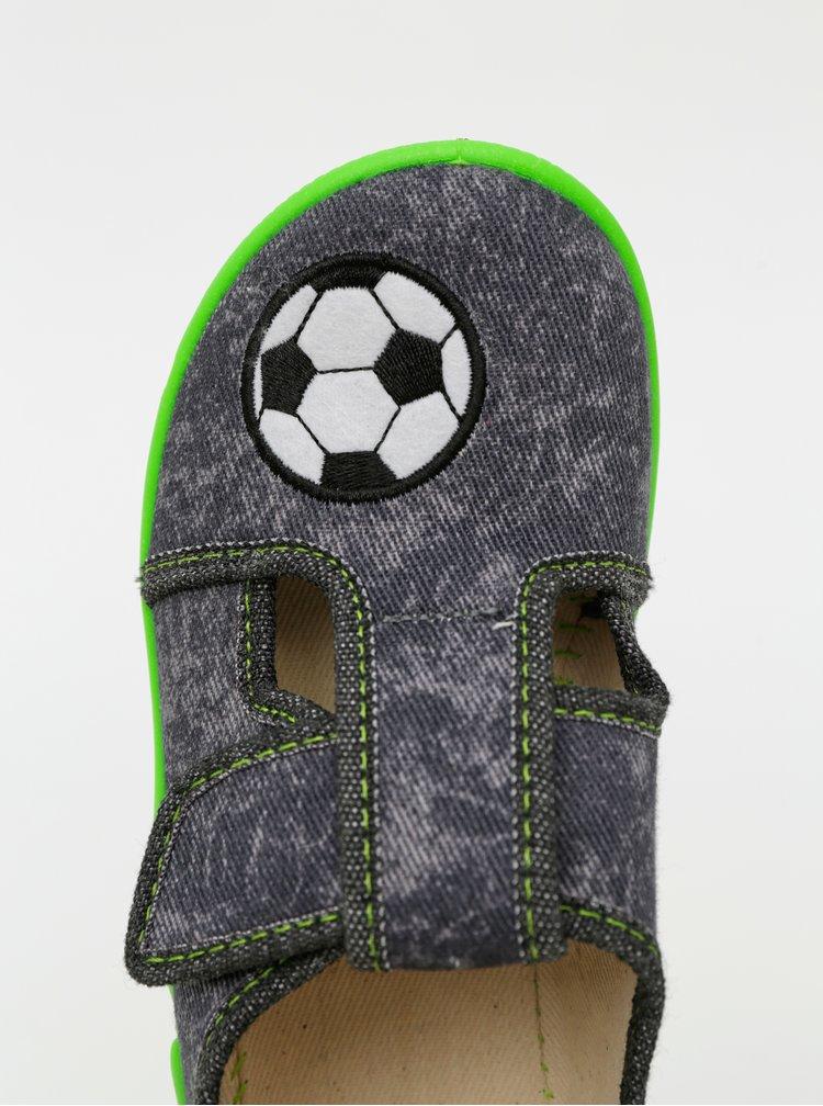 Zeleno-šedé klučičí boty 3F