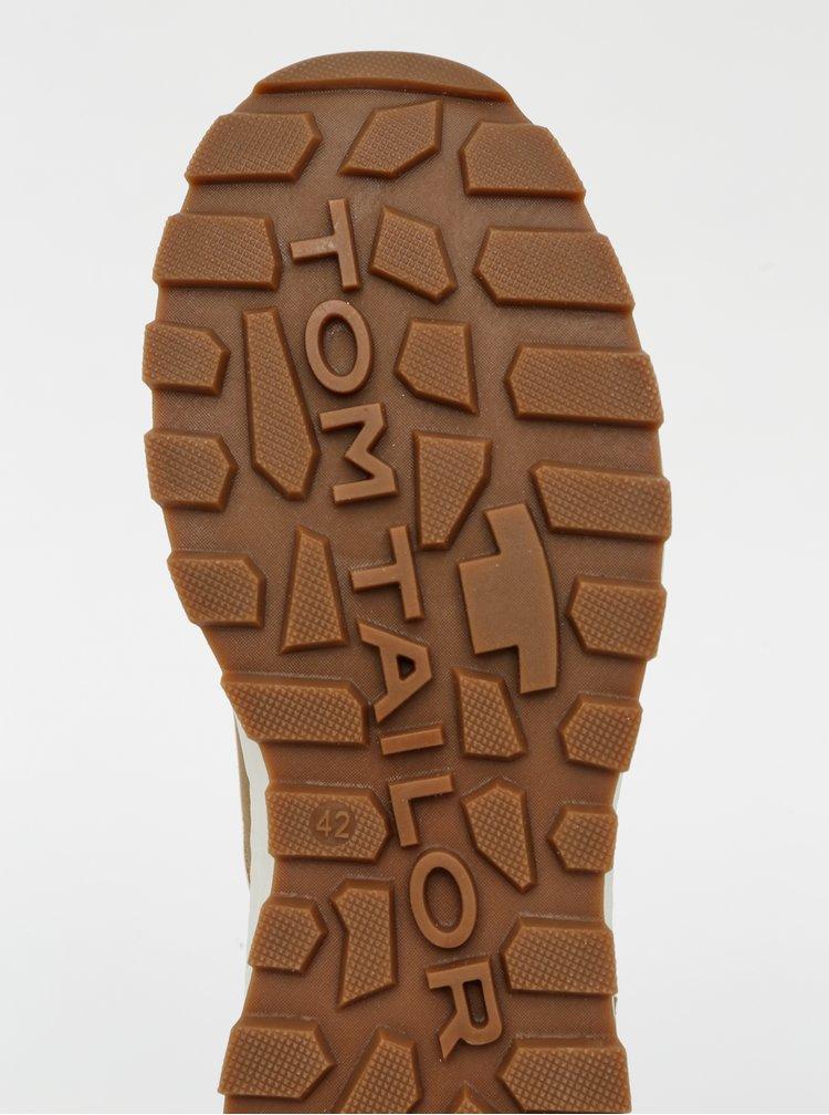 Hnědé pánské kotníkové zimní boty Tom Tailor