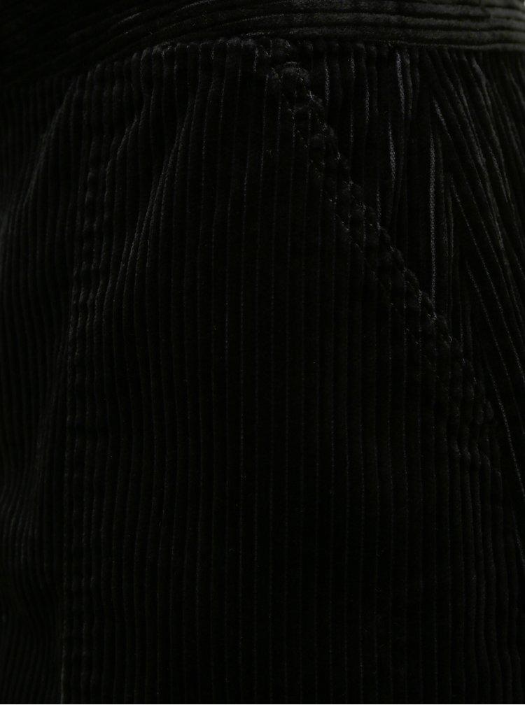 Černá manšetrová sukně Jacqueline de Yong Kira