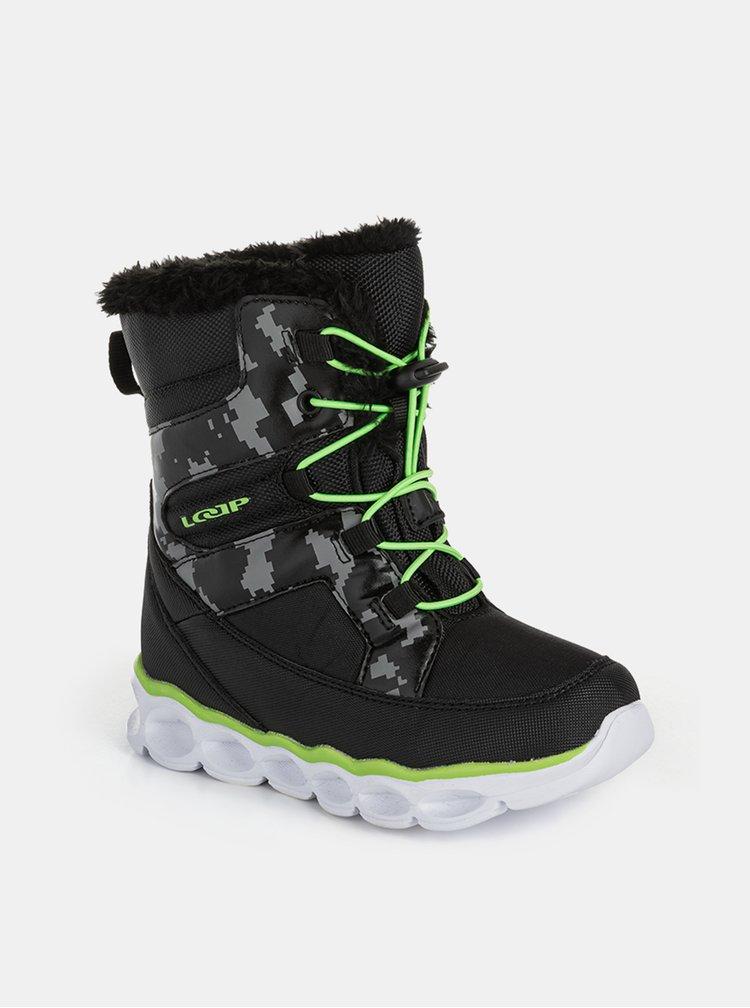 Černé chlapecké zimní boty LOAP
