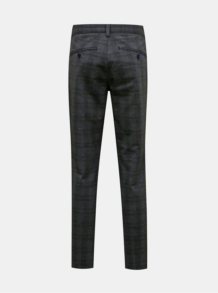 Šedé kostkované kalhoty ONLY & SONS Mark