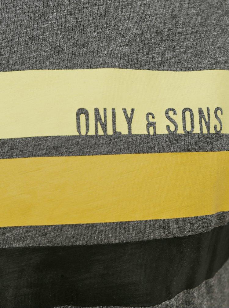 Tricouri pentru barbati ONLY & SONS - gri