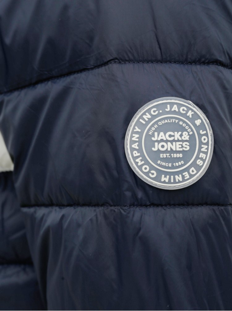 Tmavě modrá prošívaná bunda Jack & Jones Emagic