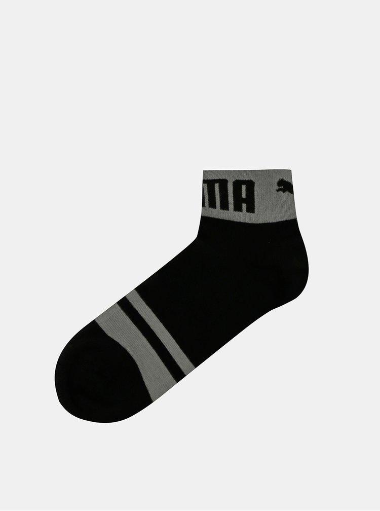 Sada dvou párů černých kotníkových ponožek Puma