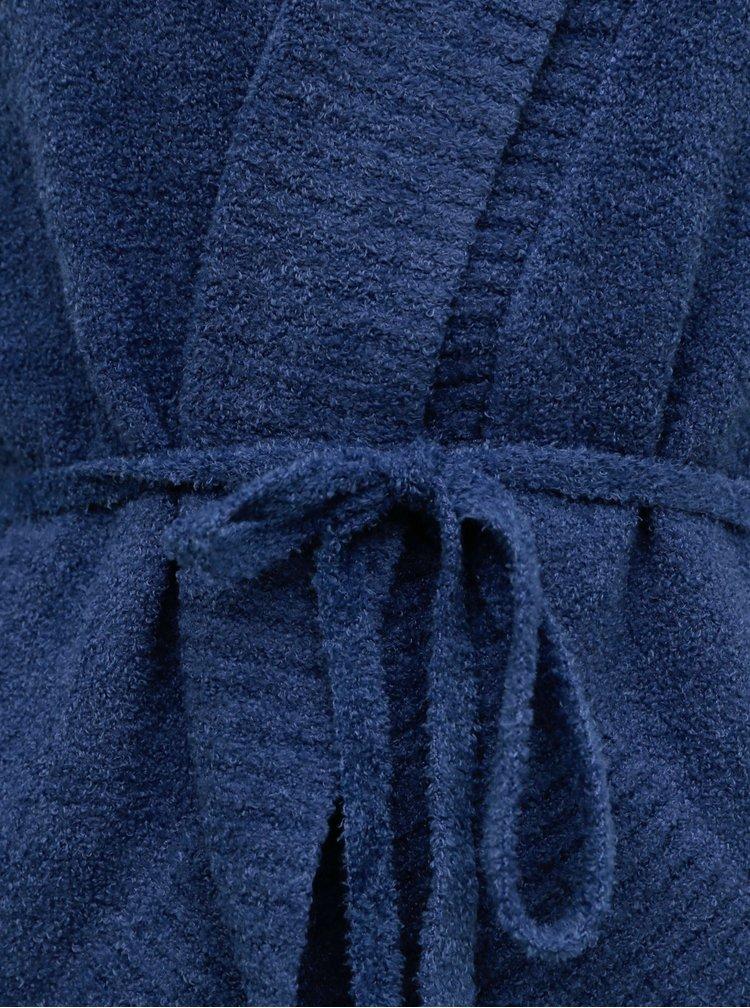 Modrá kardigan se zavazováním touch me. Caro