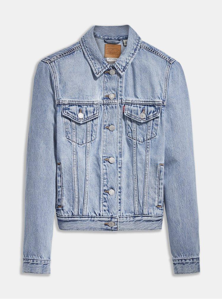 Jachete din denim pentru femei Levi's® - albastru deschis