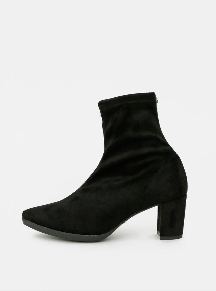 Černé kotníkové boty v semišové úpravě OJJU