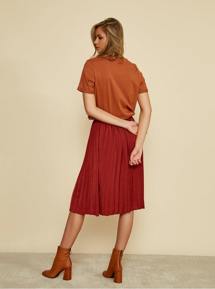 Cihlová plisovaná sukně ZOOT Petra