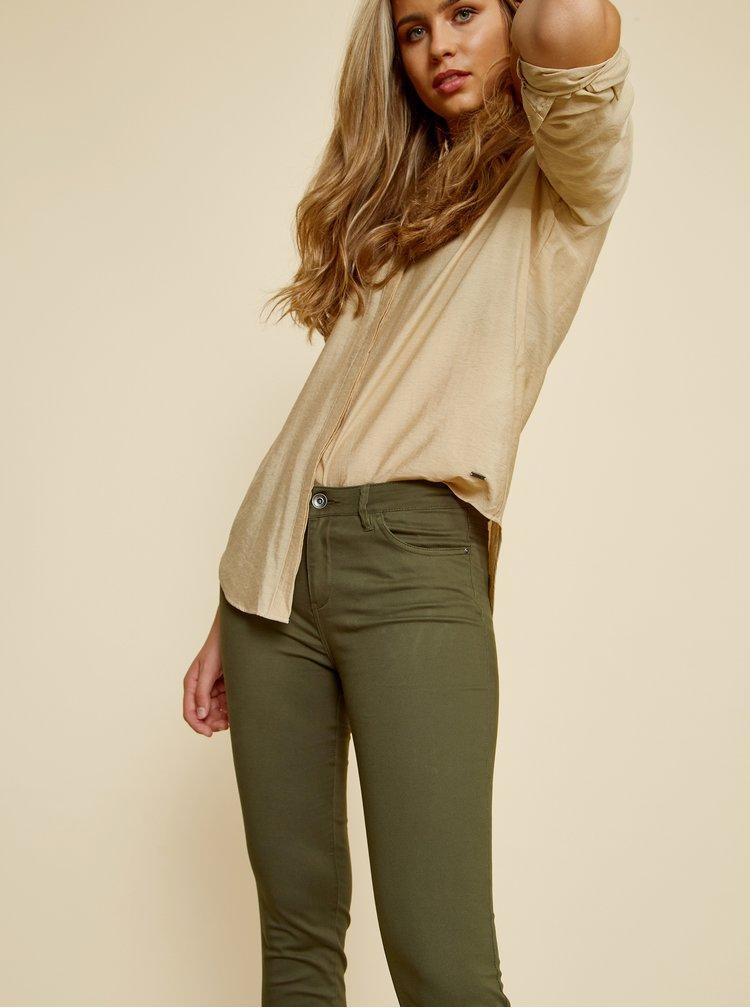 Khaki dámské slim fit kalhoty ZOOT Baseline Anna