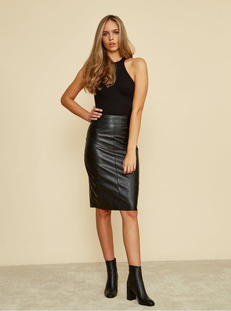 Černá pouzdrová koženková sukně ZOOT Alicia