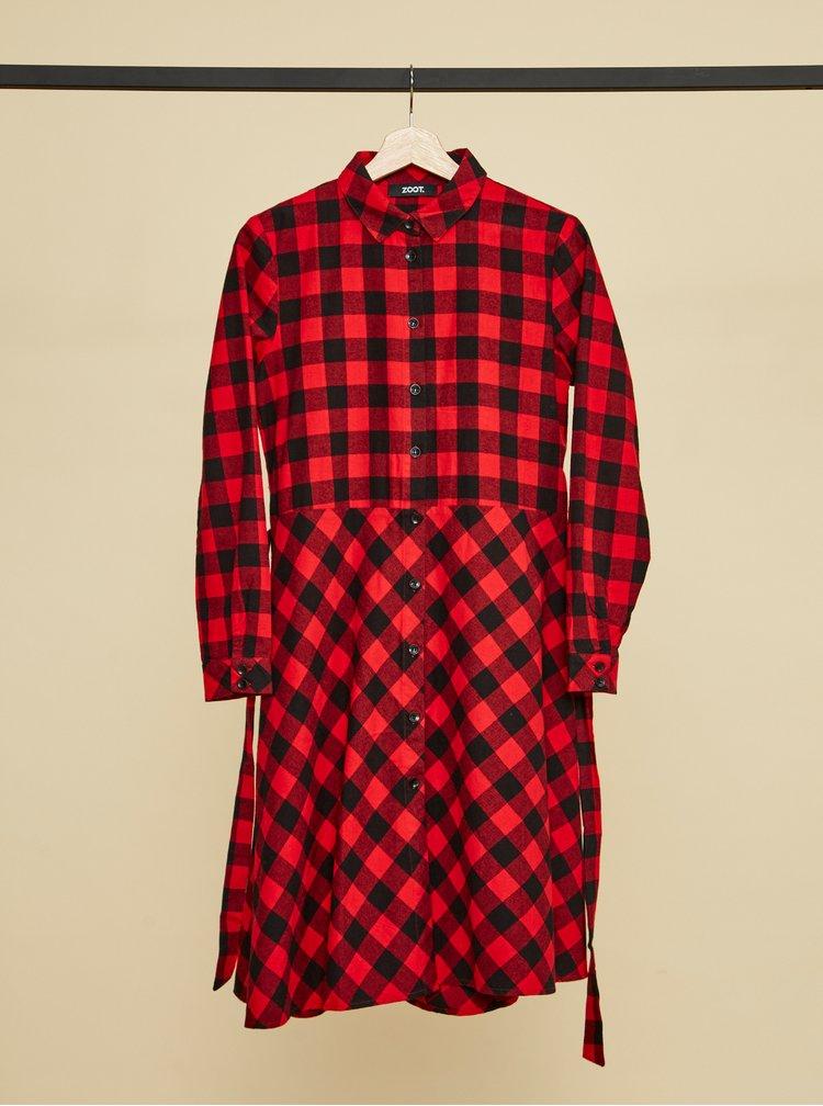 Rochii tip camasa pentru femei ZOOT - rosu