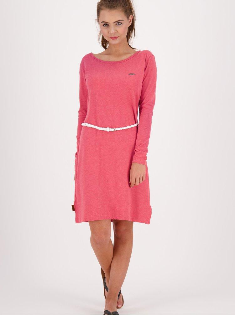 Růžové šaty s páskem Alife and Kickin