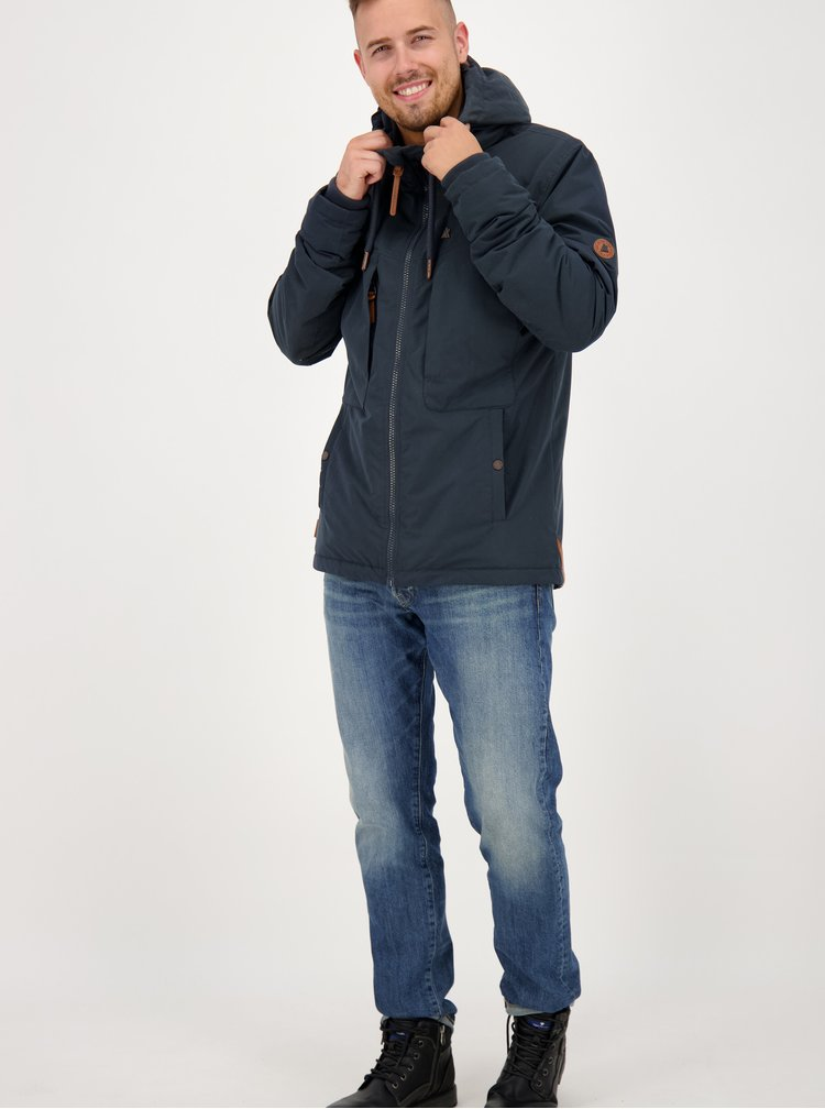 Tmavě modrá pánská zimní bunda Alife and Kickin