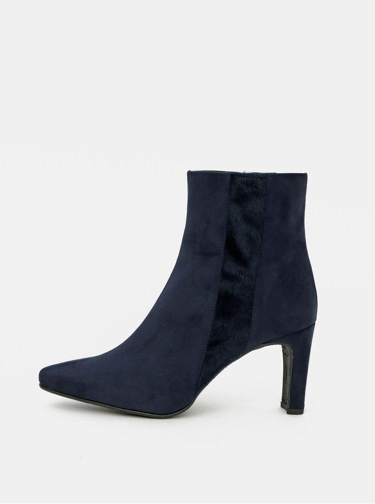 Tmavě modré kotníkové boty v semišové úpravě OJJU